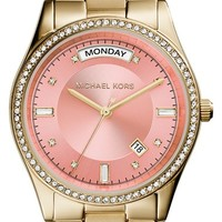 Women's Michael Kors 'Colette' Round Bracelet Watch, 34mm