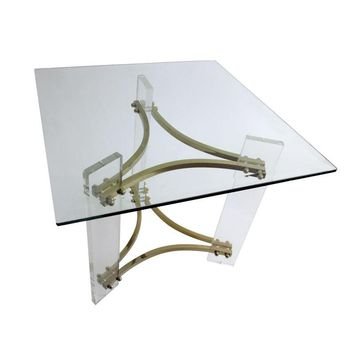 Pre-owned Mid-Century Charles Hollis Jones Lucite Side Table