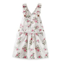 OshKosh B'gosh® Overall Dress in White Floral