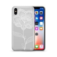 Flower Lace Henna - Clear TPU Case Cover