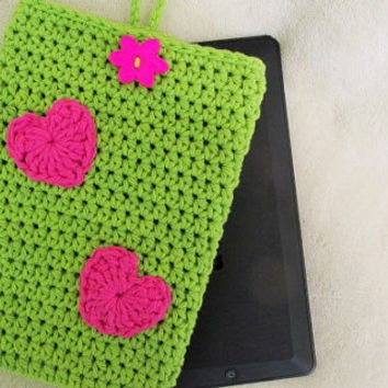 Kindle Fire Cover, Kindle Case, Crochet Kindle Fire Cover, Electronic Reader Cover, Mini Tablet Cover, 8x5 Tablet Cover, Kindle Protector