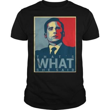 That's what She said Michael Scott the Office US shirt Premium Fitted Guys Tee