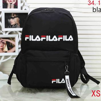 FILA 2018 new men and women with the same paragraph fashion wild shoulder bag F-XS-PJ-BB Black