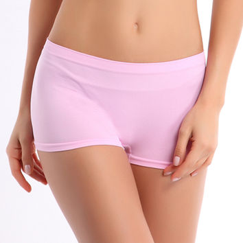 New Sexy Women Ladies Casual Comfortable Seamless Boxer Shorts culotte femme Safety Panties Sexy Lingerie Underwear Boyshort Z1