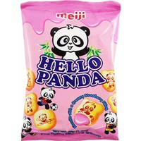 Meiji Hello Panda Creamy Strawberry Filling 1.2 OZ (35g) Bag - American Soda