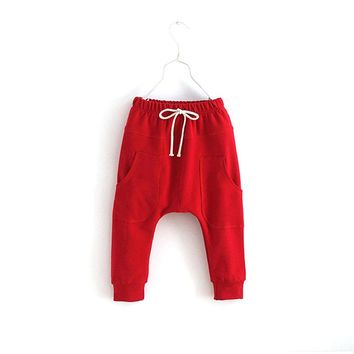 Girl   Trousers Toddler Children Jersey Harem Pants Baby Boy Jersey Bottoms
