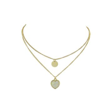 Gold Simple Pendant Multi-Layer Necklace