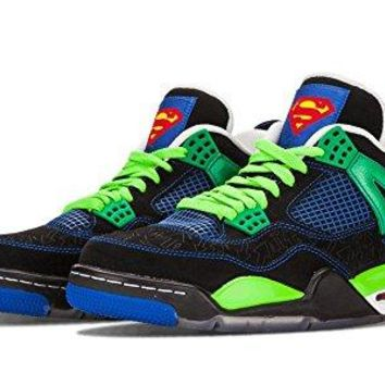 "Men's Jordan Air 4 Retro ""Doernbecher"" Basketball Shoes - 308497 015, Black/Old Royal-Electric Green-White - Size 9.5 D(M) US"