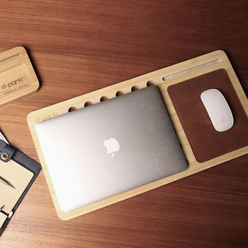 Natural Bamboo Laptop Stand for MacBook