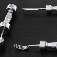 Dumb-Bell Cutlery: Get Arm Workouts While Eating