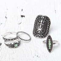 With Love From CA Silver Ring Set - Womens Jewelry - Silver