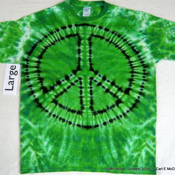 Adult Large Tie-Dye Peace Sign Tee