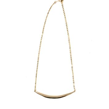 Jennifer Tuton Gold Curved Spike Necklace