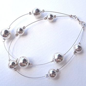 Double Bracelet 925 Sterling Silver Ball