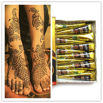 1pc New Arrivals Body Art Paint High Quality Mini Natural Indian Tattoo Henna Paste for Body Drawing Black Henna tattoo Golecha
