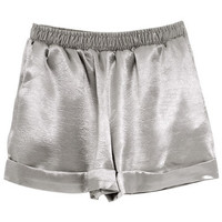 Silky Shorts - Silver - LookbookStore