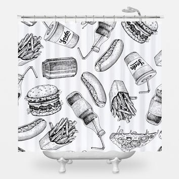 Fast Food Stop Shower Curtain
