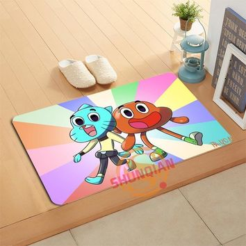 Autumn Fall welcome door mat doormat Custom The Amazing World Of Gumball  Bath Mats Foot Pad Home Decor Bathroom Mats  Floor Mat A320#136 AT_76_7