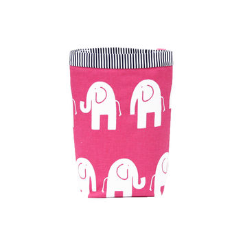 Car Trash Bag ~ Pink Elephant