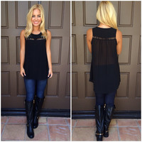 In A Bind Cutout Blouse - BLACK