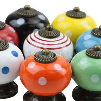 Hardware for Drawers and Cabinets. Retro Vintage Round Ceramics Drawer Knob Handle Cabinet Cupboard Door Pull Decor