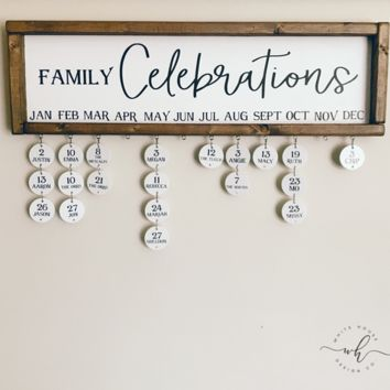 Family Celebrations Sign - Main Sign ONLY