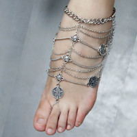 Tassel Foot Harness Barefoot Sandal