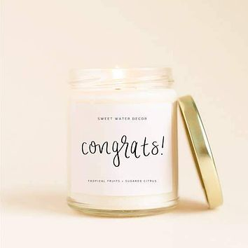 SWEET WATER DECOR CONGRATS SOY CANDLE