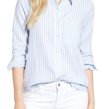 cupcakes and cashmere Jaxine Stripe Shirt | Nordstrom