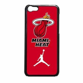 CREYUG7 Miami Heat With Nike Jordan iPhone 5c Case