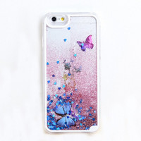Purple Butterfly Floral Iphone Cases for 5s 6 6S Plus