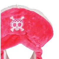 22in Pink Plush Pirate Hat