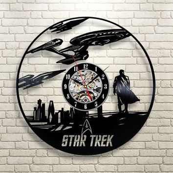 Star Trek Enterprise Spock Vinyl Record Clock