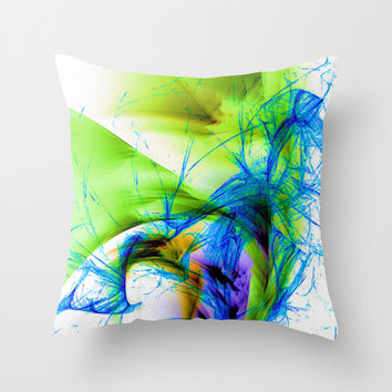 Smoke and Mirrors Throw Pillow by Brian Raggatt