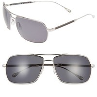 Men's Oliver Peoples West 'Bates' 62mm Polarized Sunglasses - Silver/ Blue