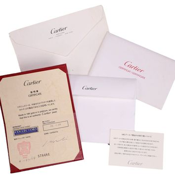 Ladies Cartier LOVE Screw Size 17 18K 750 White Gold Bangle Bracelet Box Papers
