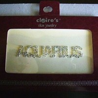 Claire's Skin Jewlery Aquarius decorative for belly face and body, self sticking