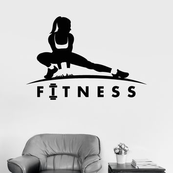 Vinyl Wall Decal Fitness Girl Healthy Lifestyle Sports Motivation Woman Unique Gift (ig3328)