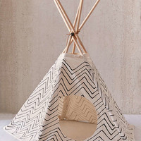 Little Korboose Chevron Printed Pet Teepee | Urban Outfitters