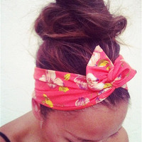 FREE SHIPPING -  Flora Dolly Bow Wire Headband