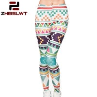 3D Print Women Leggings Geometric patterns