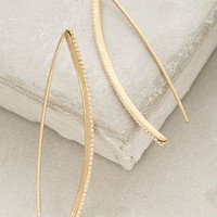 Rachael Ryen Wishbone Threaded Drops in Gold Size: One Size Earrings