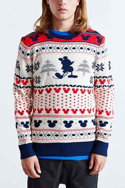 Mickey Mouse Fair Isle Crew Neck Sweater- from Urban Outfitters