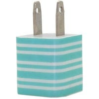 Turquoise Stripe Phone Charger