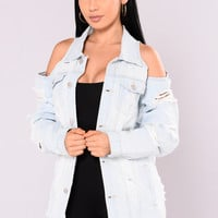 One Too Many Times Jacket - Light Blue