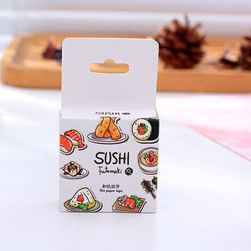 E17 10 Meter Long Sushi Food Decorative Washi Tape DIY Scrapbooking Masking Tape School Office Supply Party Decor