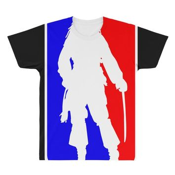 Jack Sparrow Pirate NBA Style All Over Men's T-shirt