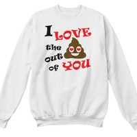 Funny Valentines Day Emoji Poop Gift T-Shirt