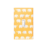 Yellow Elephant Light Switch Plate