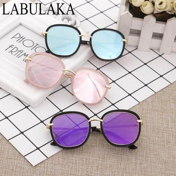 LABULAKA 2017 New Child Sunglasses Fashion Round Boys Girls Sun glasses Trendy Big Frame Eyewear Baby Kids Eyeglasses Goggles
